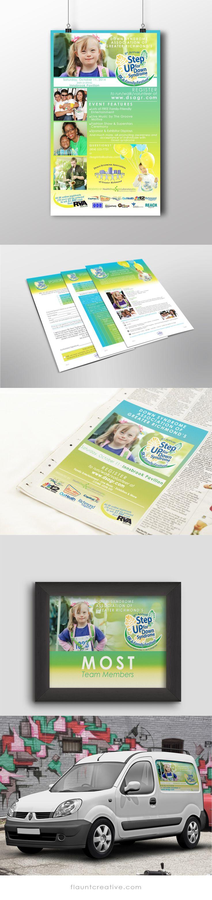 5k poster design - Step Up For Down Syndrome 5k