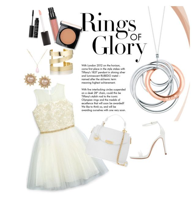 """""""Rings of Glory : Lets go to the party!"""" by aninditaarr on Polyvore featuring David Charles, Tiffany & Co., Versace, Zara, NARS Cosmetics, Lancôme, Carolee, Étoile Isabel Marant and White House Black Market"""