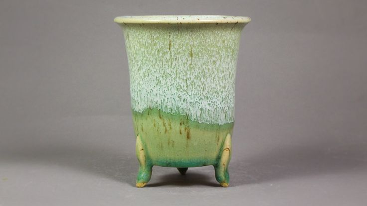 """Japanese Style 4"""" Orchid Pot with Feet for Neofinetia Falcata and other species by Ashley Keller"""