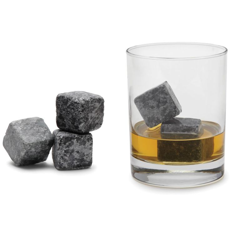 The Non-Diluting Whisky Cold Stones - Hammacher Schlemmer - After four hours in a freezer, two of the 12 included stones lower the temperature of a 3-oz. glass of neat whisky by as much as 25° F and continue to cool the beverage for 30 minutes.
