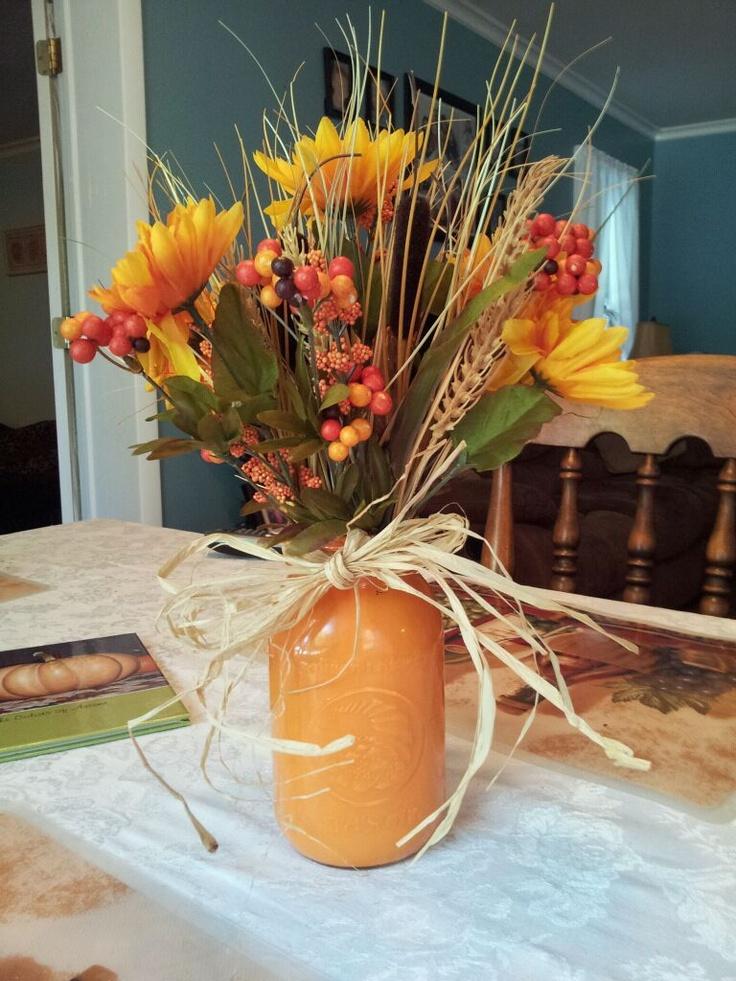 Fall mason jar decor pinterest