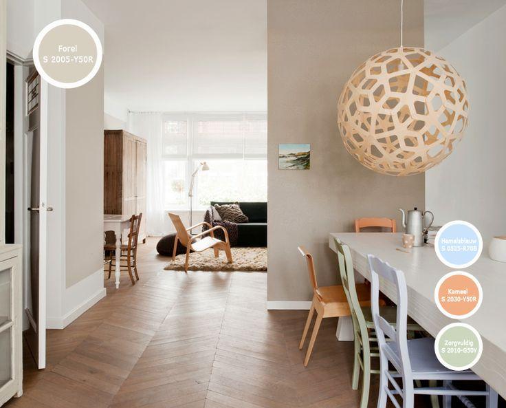 17 best images about kleur in woonkamers on pinterest paint colors tes and doors - Hoe een verf kleur voorbereiden ...