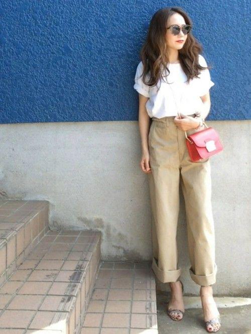 GUのTシャツ・カットソーを使ったshino◡̈*❤︎のコーディネートです。WEARはモデル・俳優・ショップスタッフなどの着こなしをチェックできるファッションコーディネートサイトです。