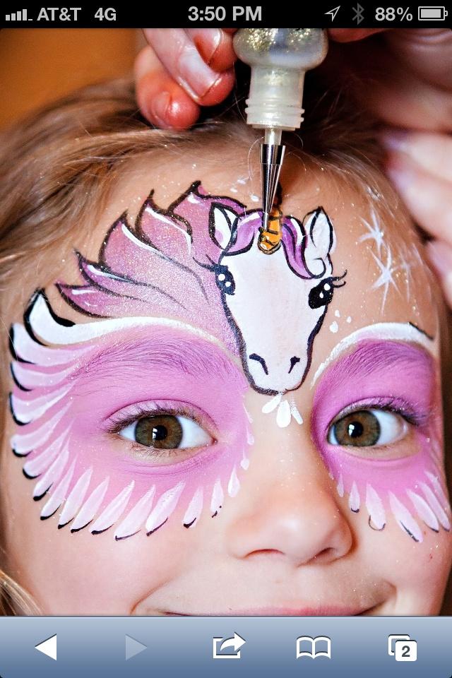 Unicorn Face Paint Painting Pinterest