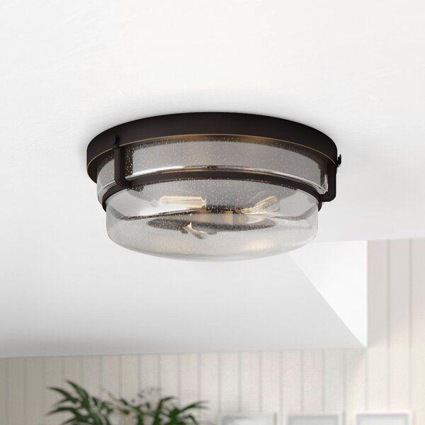Dickison 3 Light 14 75 Simple Drum Flush Mount Hallway Light Fixtures Modern Kitchen Lighting Kitchen Ceiling Lights