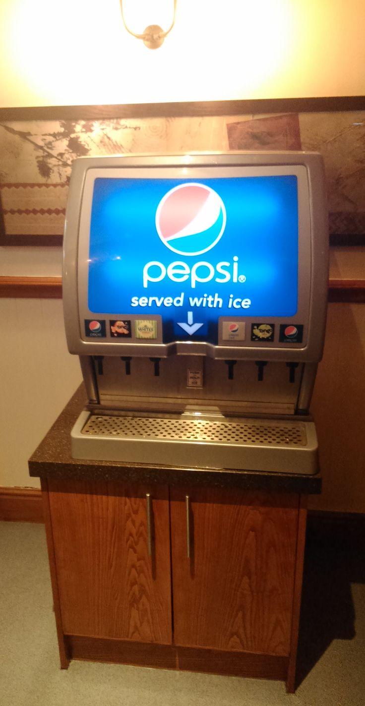 A Pepsi dispenser. Brewers' Fayre at Birmingham Great Park, Rubery.