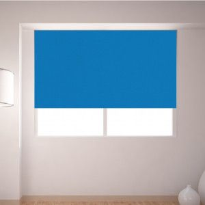 Bright Blue  Dim Out Roller Blind