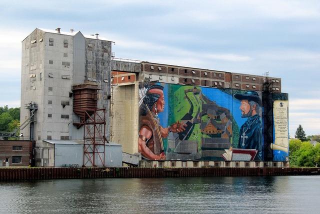 Mural, 30,000 Islands Boat Cruise, Georgian Bay, Midland, Ontario, Canada