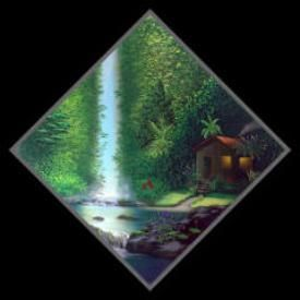 Painting titled Seclusion by Glenn Ichimura of Kauai