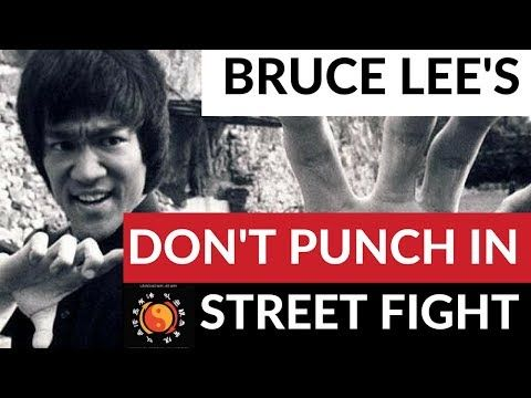 Don't Punch In A Street Fight Bruce Lee's JKD - YouTube
