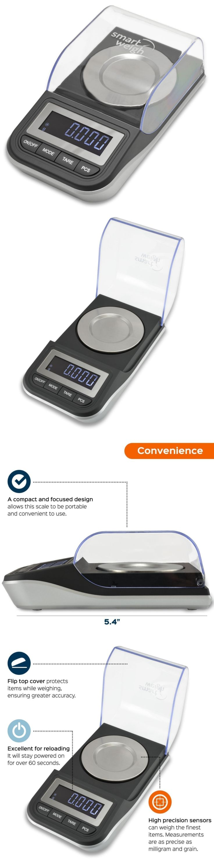 Scales 34088: Smart Weigh Premium High Precision Digital Milligram Scale With Case, Tweezers, BUY IT NOW ONLY: $40.62