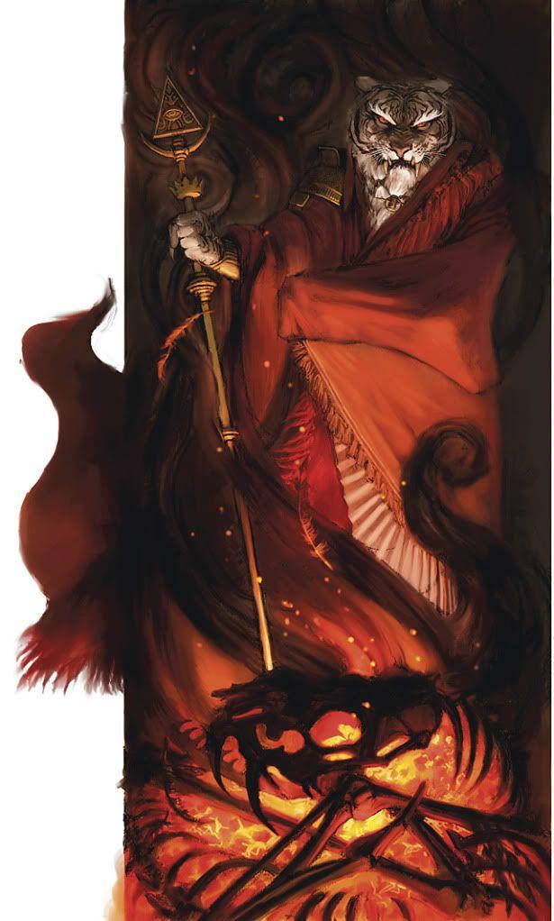Rakshasa.... Procedentes de una antigua raza hindú de bestias mitológicas, los rakshasas son criaturas demoníacas que habitan bajo la forma de un felino humanoide.