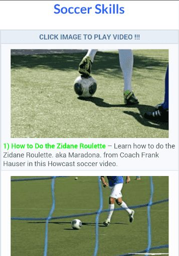 Soccer Skills Training: Wish you could get some one-on-one time with a soccer coach? You can in these videos. Coach Frank Hauser teaches you the basics of the game like how to juggle dribble trap pass shoot and head a soccer ball. But he also teaches you moves of the masters like the Adriano the Cruyff Turn and the Zidane Roulette. Check them out if you want to improve your soccer game.<p><br>1) How to Do the Zidane Roulette<br>2) Basic Rules of Soccer<br>3) How to Understand Soccer…
