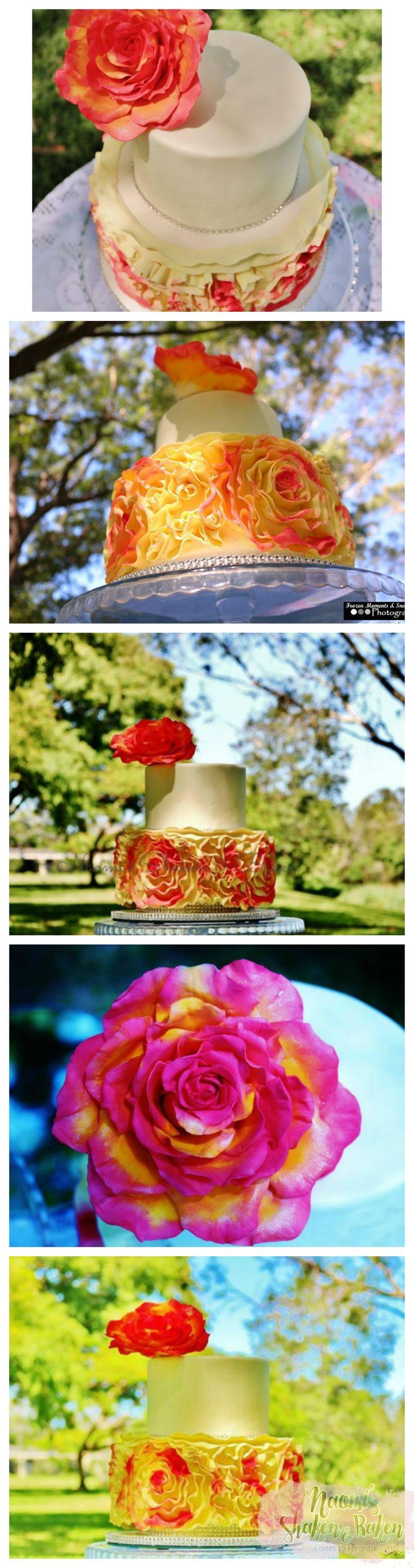 Wedding cake, wedding cupcakes, wedding, wedding planner, wedding event, gold coast, sunshine coast, Brisbane, hinterland weddings, romantic, rustic, vintage, simple, elegant, stunning, beautiful, love, breath taking, lovely, gorgeous, luxury, quality, cake, divine, mud cakes, vegan cakes, gluten free cakes, tantalizing, flowers. Edible art, edible toppers, edible flowers, Bride, groom, Caboolture, cake decorator, professional , ruffles, ruffle wedding cake, peach, yellow, white