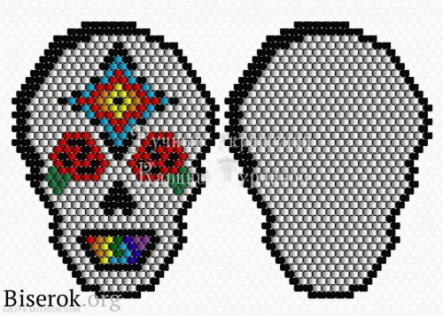 Схема черепа из бисера