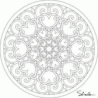 Don't Eat the Paste: Valentine Mandalas- coloring pages