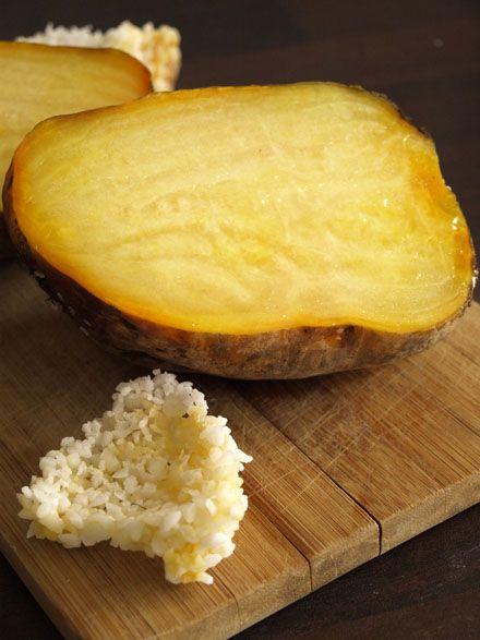 Betterave jaune cuite au four