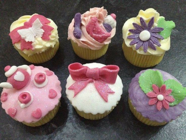Cupcakes. Bows. Tea for two. Flowers. Shoes and handbags.