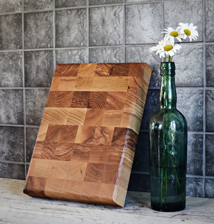 End grain cutting board made of ash wood #emanueldesign