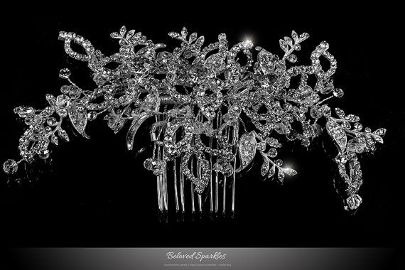 Bridal Hair Comb Swarovski Crystal Hair Comb by BelovedSparkles
