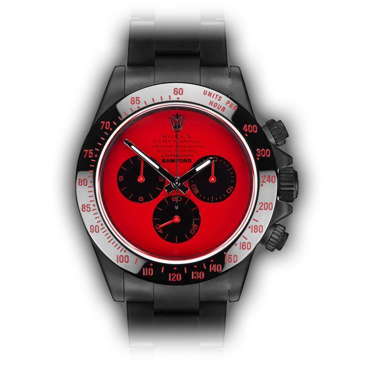 Bamford Watch Department – Customised Luxury Watches – Black Rolex MGTC – Rolex Daytona SC Blue