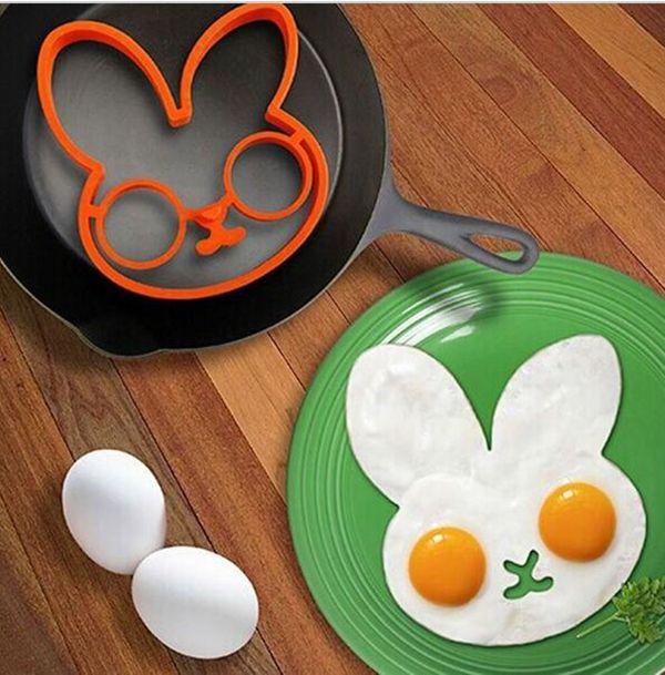 Hot Rabbit Owl Lebka tvare srdca Silikónová Sun Cloud Egg Ring Mold varenie NÁSTROJE sadené vajcia Kuchynské Prístroj najlacnejšie Cenu