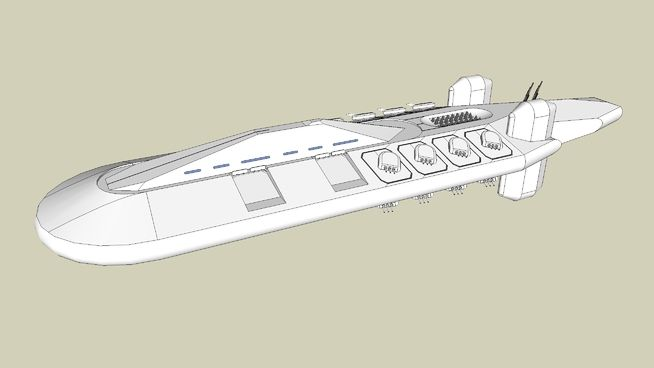"""Large preview of 3D Model of """"Crusader"""" Class Battleship"""