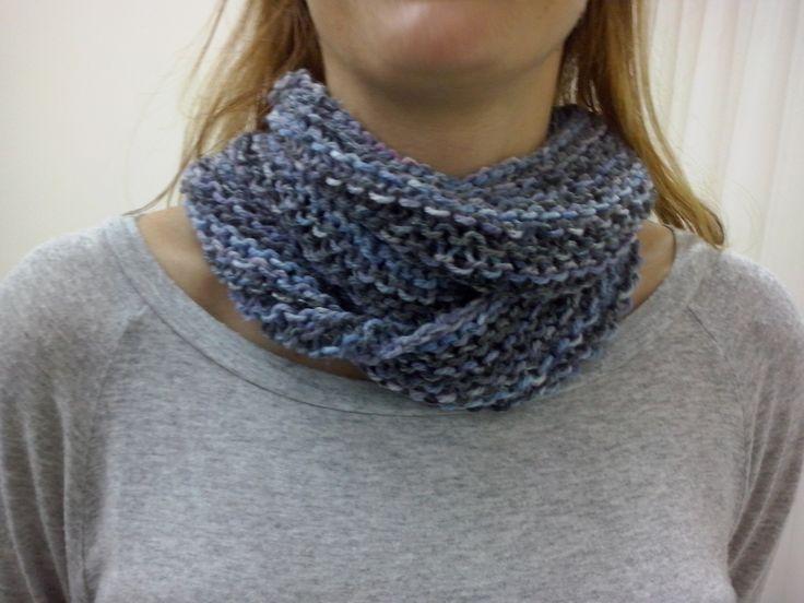 Το infinity scarf της Ρ πλεγμένο με κυκλικές βελόνες σε πλέξη μους.Εύκολο και γρήγορο!Σεμινάριο Πλέξιμο με Βελόνες Γ΄Κύκλος.