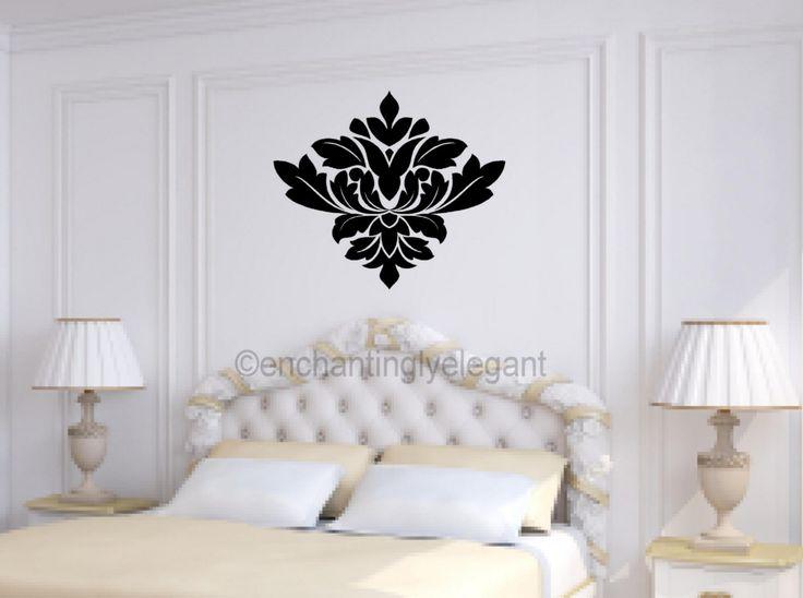 Damask-Embellishment-Vinyl-Decal-Wall-Sticker-Master-Bedroom-Living-Room-Art
