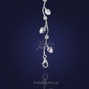 Bransoletka srebrna z cyrkoniami - biżuteria ślubna