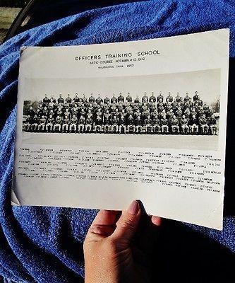 1942 Officers Training School WWII Army Photo: PHILADELPHIA PA SIGNAL DEPOT