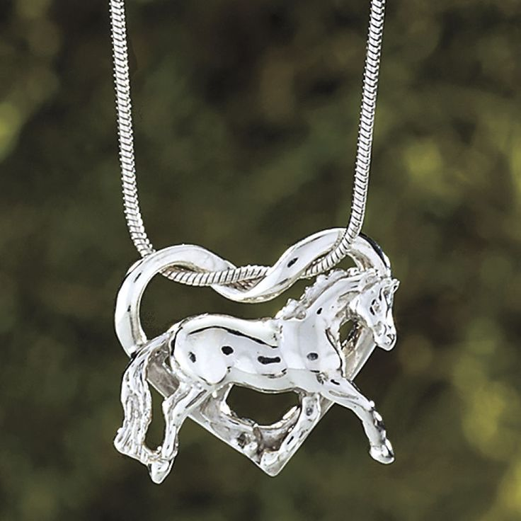 Sterling Trotting Horse Necklace - Horse Themed Gifts, Clothing, Jewelry and Accessories all for Horse Lovers | Back In The Saddle