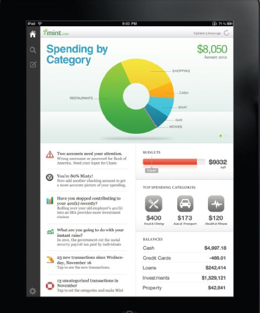 Mint: Instead of surviving off of ramen noodles, track your finances and save some money with Mint, a personal financial management tool. Mint is great for seeing where your money is going and budgeting so that you can save. It also provides bill reminders and gives advice on how to budget.