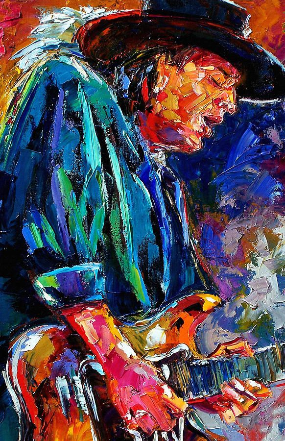 Stevie Ray Vaughan Oil Painting