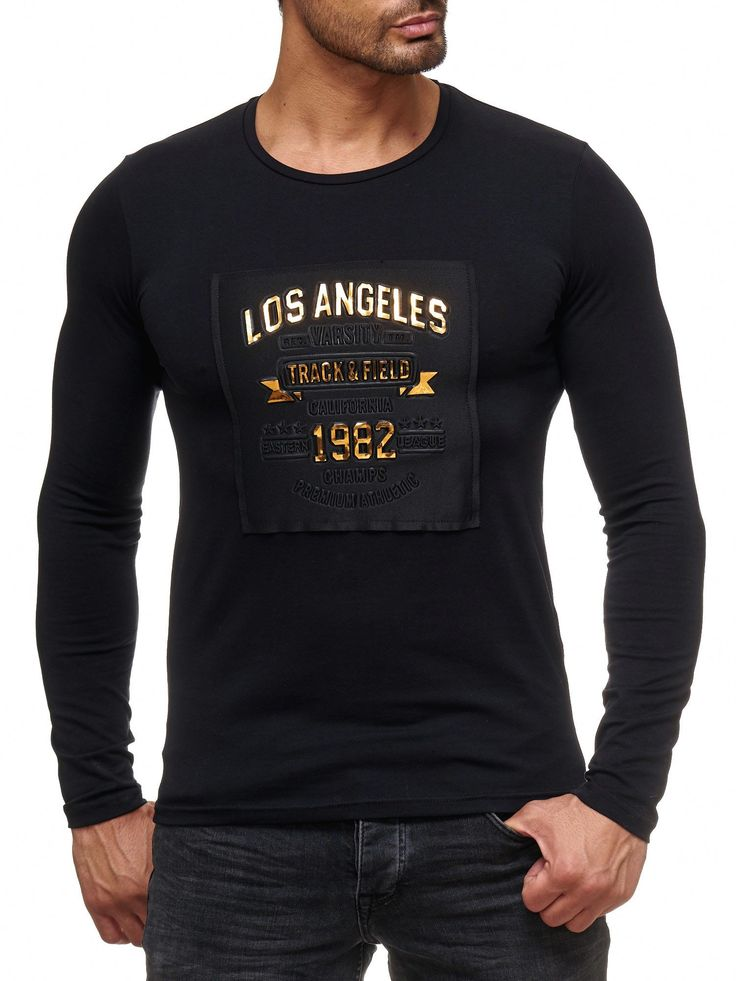 Red Bridge Herren golden LOS ANGELES Longsleeve Pullover Fashionable Schwarz  #black #gold #golden #text #los #angeles #LA #1982 #track&field #authentic #winter #autumn #fashion #style #art #new #kaufen #shopping #herren #mensfashion #premium #quality #rare #musthave #sweatshirt #pullover #sweater #Longsleeve #Langarm #2017 #2018 #muscle #clubwear #biker #designer #styler #cool #boys #modern #moderndesign #model #original #redbridge