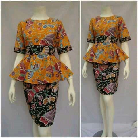 Dress Batik Karlina Peplum Allsize Lingkar Dada 100cm Bahan Katun Halus Harga 125k #batikbagoessolo #dressbatik #seragambatikkantor #batikindonesia #batikindonesian #fashion #Fashion