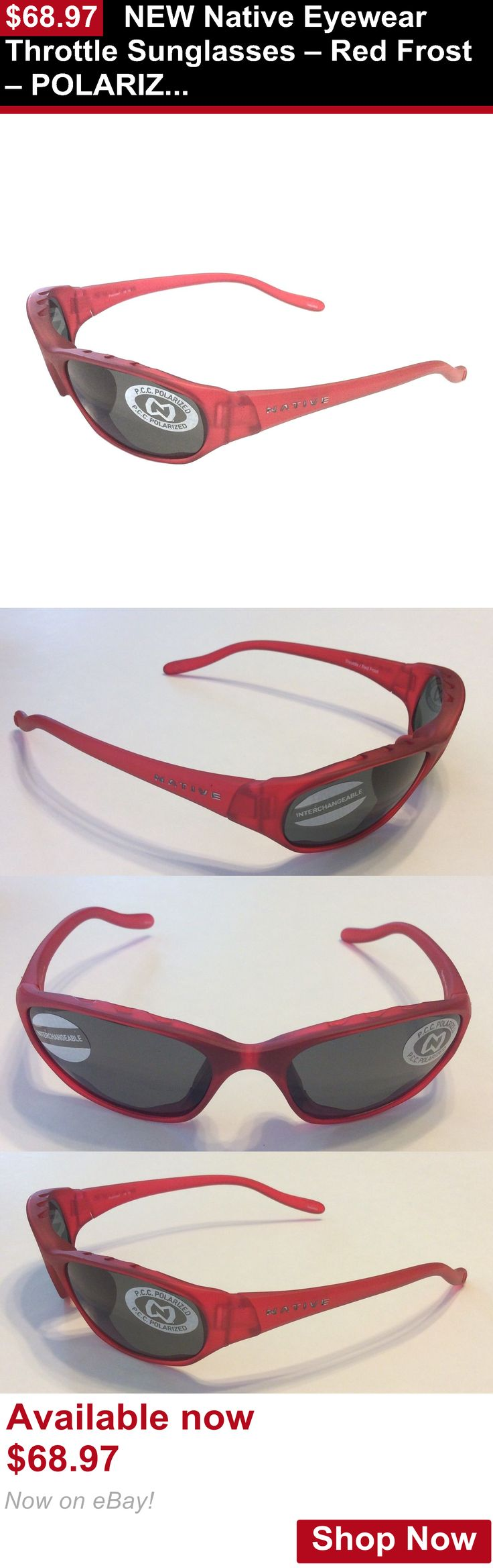 Unisex accessories: New Native Eyewear Throttle Sunglasses – Red Frost – Polarized Gray Lens BUY IT NOW ONLY: $68.97