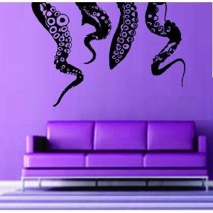 Octopus Kragen Tentacles Wall Vinyl Decal Sticker Decals Nautical Ocean