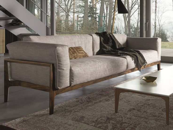 Download the catalogue and request prices of 2 seater fabric sofa Elm   fabric sofa, design Jehs+Laub, Elm collection to manufacturer Cor Sitzmöbel Helmut Lübke