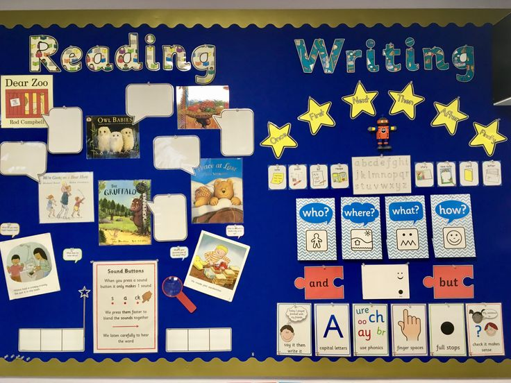 early years foundation stage writing area in preschool