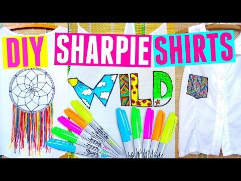 DIY SHARPIE SHIRTS | DIY Clothes for Summer - YouTube