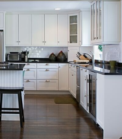 127 best new kitchen cabinets images on pinterest home for Black beadboard kitchen cabinets