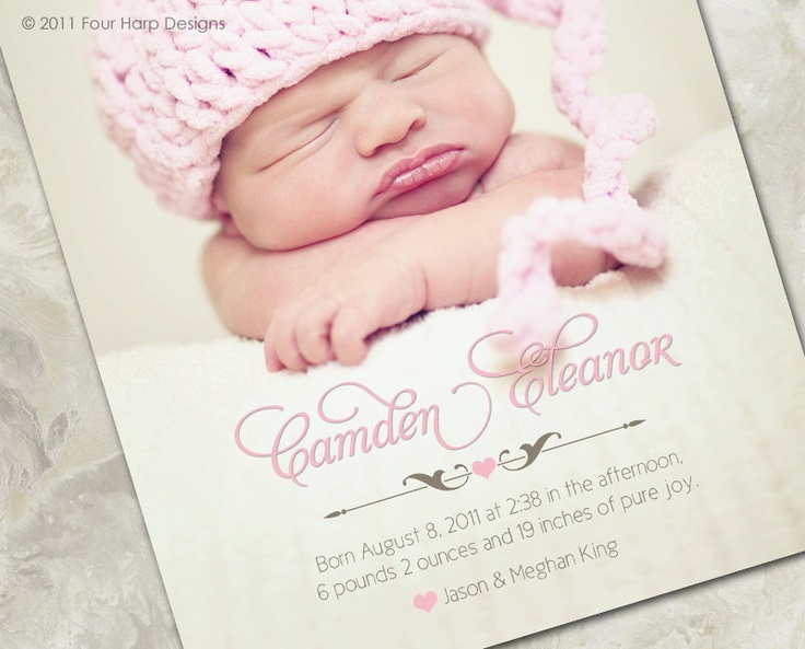 1000 images about Baby arrival announcements – Baby Arrival Announcements