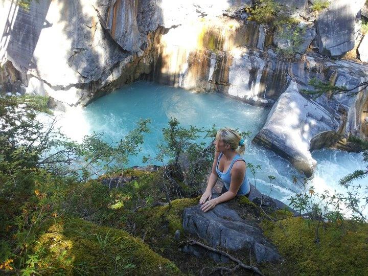 me and blue water, in the Rockies
