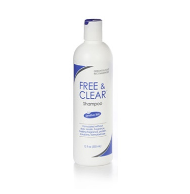 Free & Clear Shampoo. Rich lather, rinses clean. Fragrance-free, gluten-free. No formaldehyde, no botanicals. Made for those with sensitive skin.