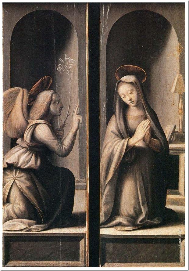 Ридольфо Гирландайо. Благовещение. 1509-1515. Музей искусств Метрополитен. Нью-Йорк. США