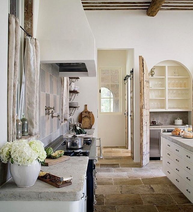 Rustic French Country Kitchen.
