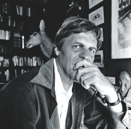 NEW YORK - 1974: George Plimpton poses during a photoshoot held in 1974 at his residence in New York. (Photo by Michael Tighe/Hulton Archive/Getty Images)