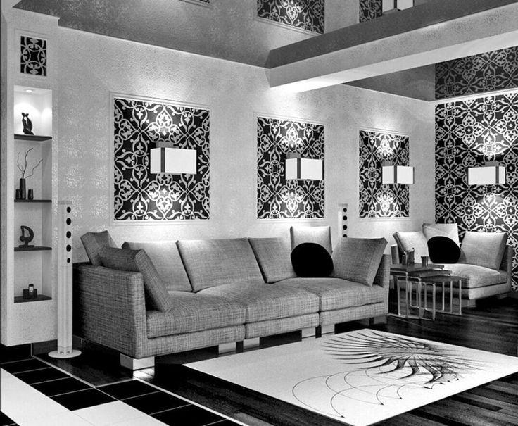 Картинки по запросу черно-белые гостиные фото