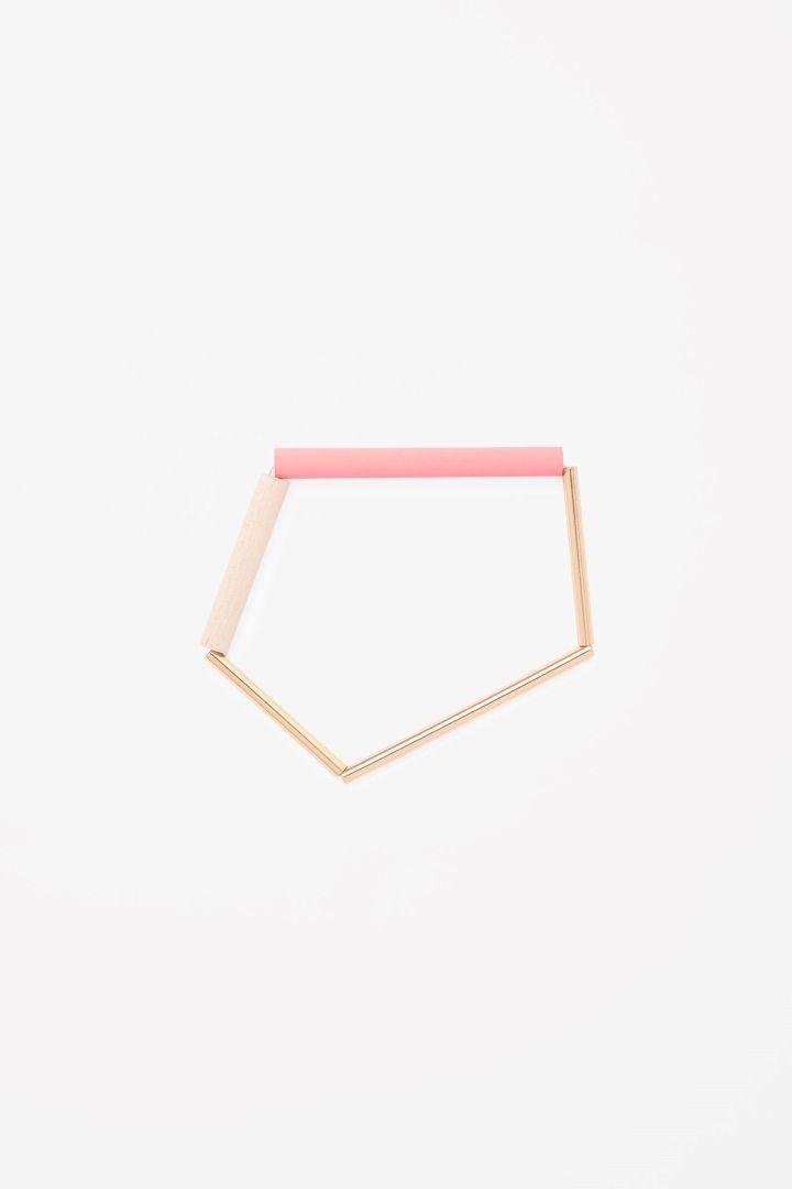 COS | Wood and metal bead bracelet